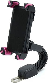 sourcing map Soporte Brazo para GPS Smartphone Móvil del Manillar de Scooter Moto Color Rosa Negro: Amazon.es: Coche y moto