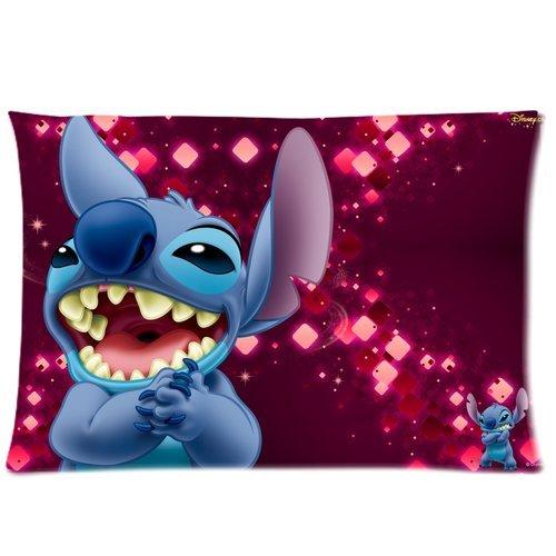 - 20*30 Cushion Case, Disney Cartoon Lilo & Stitch Custom Zippered Standard Size Pillowcase 20*30(two sides)