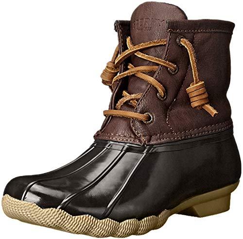 Sperry Saltwater Rain Boot (Little Kid/Big Kid), Brown/Brown, 4 M US Big Kid