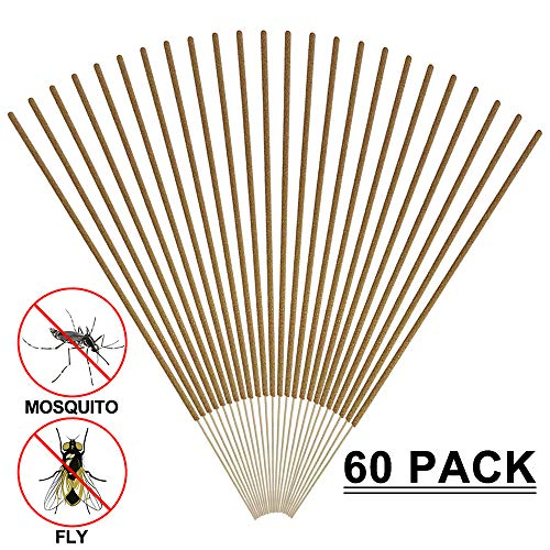 YASSUN Mosquito Repellent Sticks Natural Insect Repellent Incense Sticks - Eco Friendly,Outdoor Garden Effective Pest Control for Kids,Adults,Plants &Beasts,60 Pack