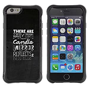 Suave TPU Caso Carcasa de Caucho Funda para Apple Iphone 6 / Typography Emotional Message / STRONG
