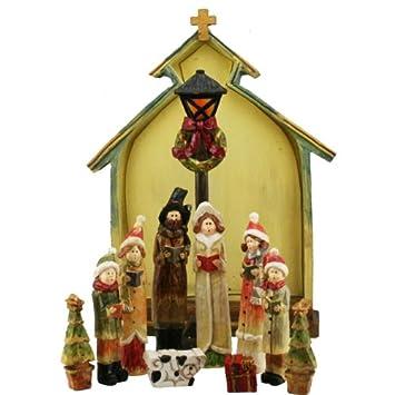 Christmas Carol Singers Figurines.Victorian Christmas Carol Singers Figurines Set Amazon Co