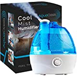 AquaOasis™ Cool Mist Humidefier {2.2L Water Tank} Quiet Ultrasonic Humidifiers for Bedroom & Large room - Adjustable -360° Rotation Nozzle, Auto-Shut Off, Humidifiers for Babies Nursery & Whole House