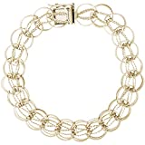 Gold Plated Fancy Charm Bracelet, 8 inch, Charm Bracelets for Women & Girls