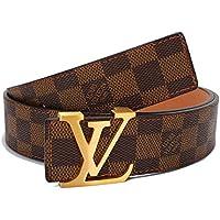 Men's fashion plaid belt 32
