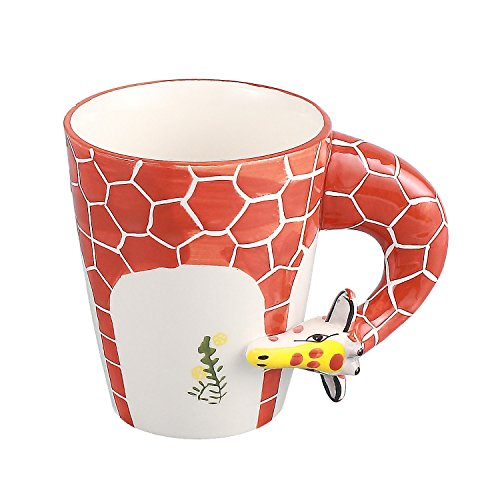 Neolith Hand Painting Cute Animal Ceramic Mug Creative Art Mug Giraffee Java Adorable Mugs for Women with Gift Box Interesting Finds Drinkware for Coffee & Tea Birthday Gift (12.5 oz, Giraffe) (Giraffe Java)