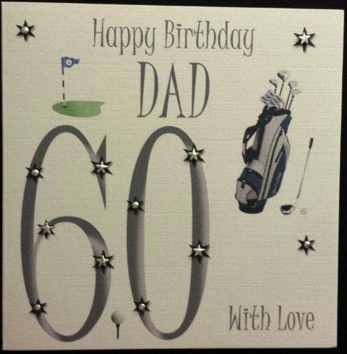 Happy Birthday Card Golf Dad 60th Birthday Handmade Card Amazon