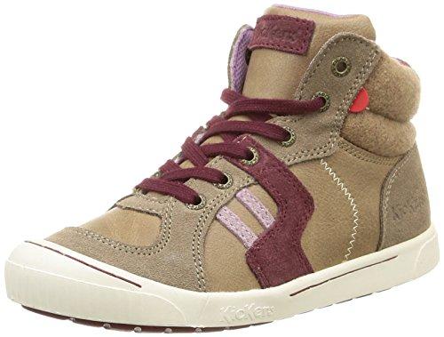 Clair Kickers Ziguers Sneakers Hautes Gris Fille Beige ngp81gqS