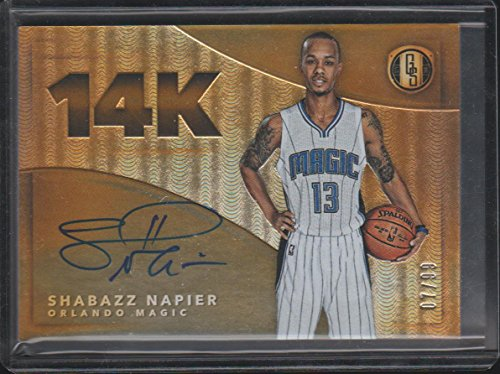 - 2015-16 Gold Scripts Shabazz Napier Magic 7/99 Autographed 14K Basketball Card #14K-SN