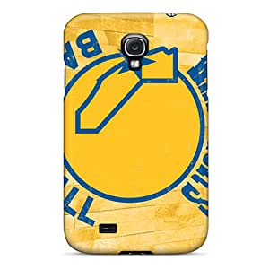 Perfect Hard Phone Cover For Samsung Galaxy S4 With Provide Private Custom Realistic Golden State Warriors Pattern KimberleyBoyes
