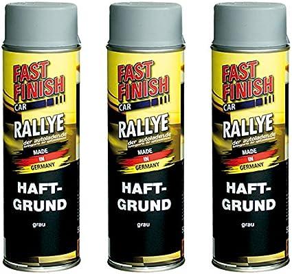 3x 500 Ml Fast Finish Car Rallye Haftgrund Grundierung Grau Spraydose 292811 Auto