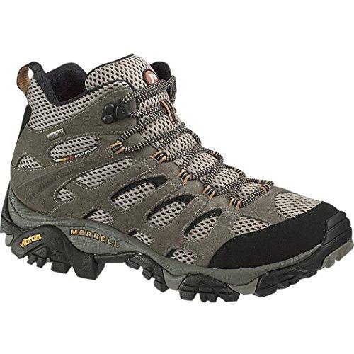 Merrell Men's Moab Mid Gore-Tex Dark Tan Hiking Boot - 41.5