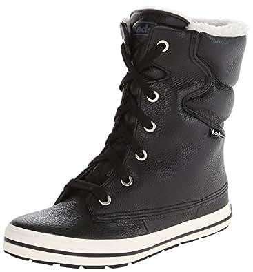 Amazon.com   Keds Women's Droplet Leather Snow Boot, Black