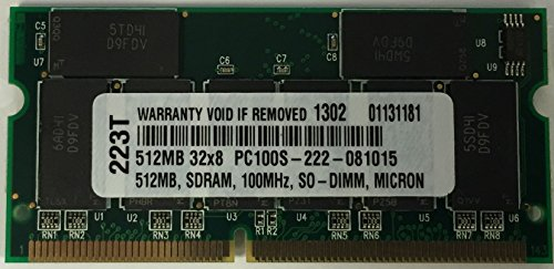 512MB SDRAM PC100 MEMORY FOR Apple iBook 500 (M8597LL/A)