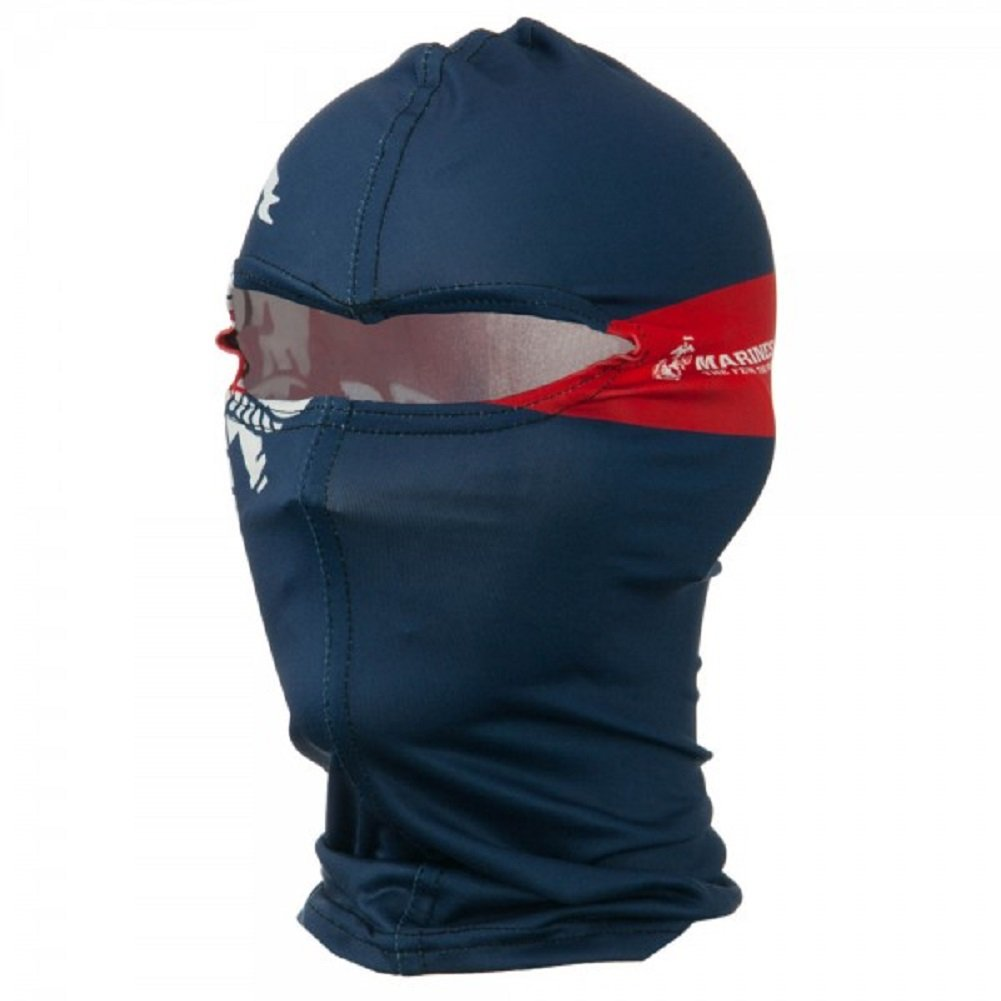 Marine Corps Blue Crest Nylon Motorcycle Balaclava Face Mask