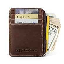 RFID Wallet Mini Classic for Men and Women - Brown