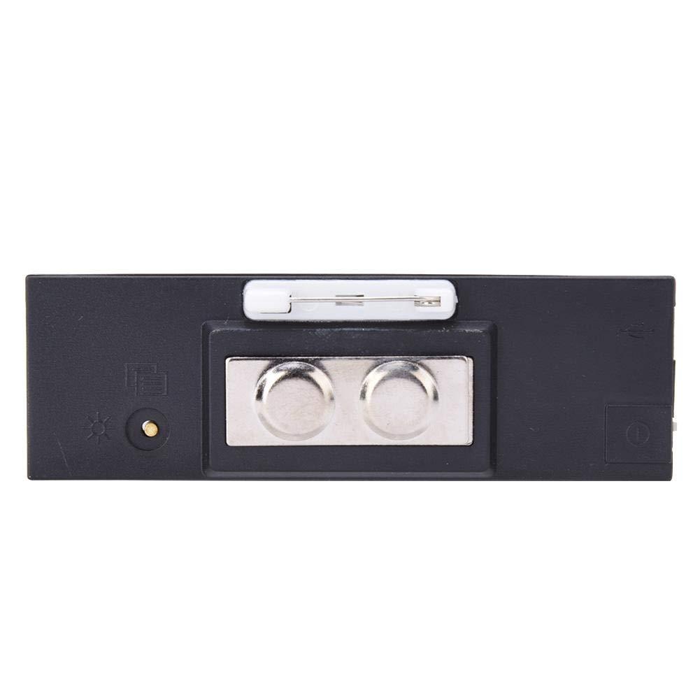White 180 mAh Badge Porta Magnetica con Magnete a Scorrimento con Micro USB Ricaricabile,Display HD Molto luminoso Blu//Giallo//Bianco Led Tag Scrolling Sign Programmabile