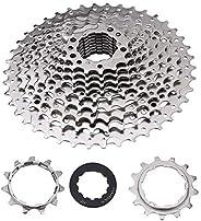 Bike Freewheel & 3 Accessories, 9/10/11/12 Speed 32/36/42/46T Road Bike Freewheel Cassette Sprocket Bicycl