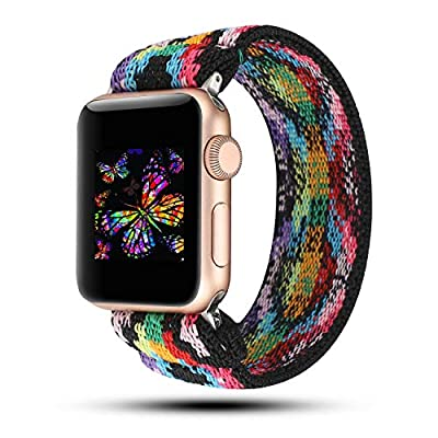 YOSWAN Stretchy Loop Strap Compatible for Apple Watch Band 40mm 38mm 44mm 42mm iWatch Series 6/5/4/3/2/1 Stretch…