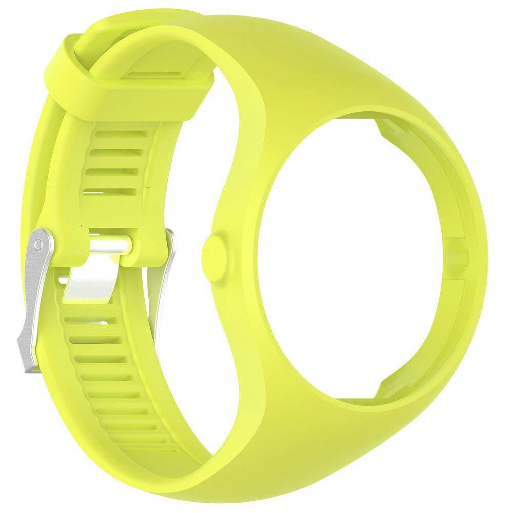 Correa de Reloj Inteligente, ManlinG7 * Correa de muñeca de Caucho Suave de Silicona para el Reloj Polar M200 Fitness Tendencia de la Personalidad de la ...