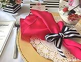 16 Hot Pink Gabardine Cloth Napkins for Dinner Party Birthday Dinner Bridal or Baby Shower