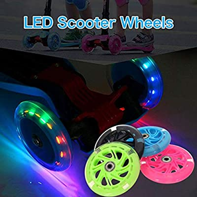 CHERIST 80Mm Led Flash Wheel Mini Or Maxi Micro Scooter Flashing Lights Back Rear ABEC-7 : Garden & Outdoor