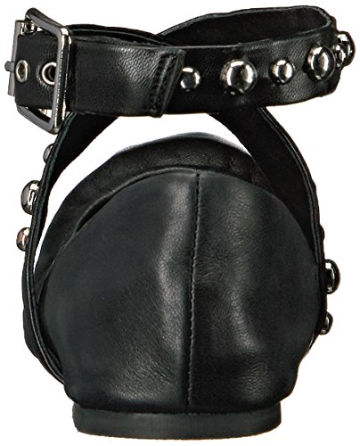 Steve Leather Black para Madden mujer Bailarinas rq6rx7wC