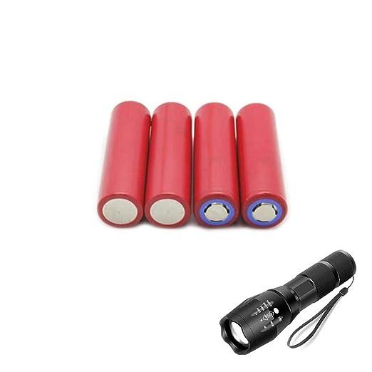 ATWG 18650 Cargador de batería + Linterna portátil con ...