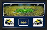 Encore Select 657-08 NCAA Michigan Wolverines Custom Framed Sports Memorabilia with Two Mini Helmets Photograph and Name Plate