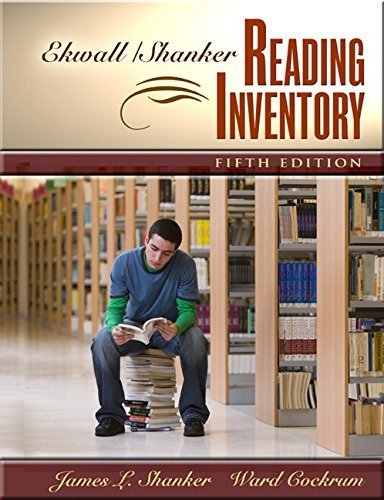 Ekwall/Shanker Reading Inventory (5th Edition) by James L. Shanker (2009-03-28)