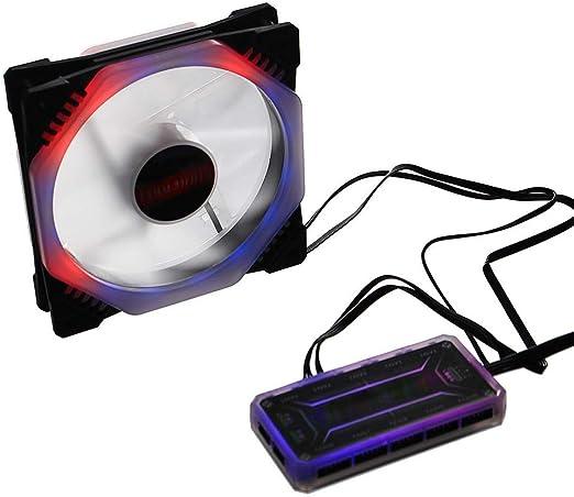 Equipo de refrigeración del ventilador RGB LED de luz regulable ...