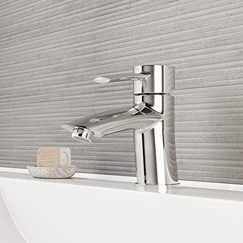 VIGO VG01023CH Bova Bathroom Faucet, Single-Hole Deck-Mount Lavatory Faucet with Plated Seven Layer Polished Chrome Finish
