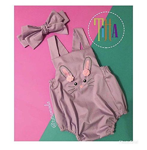 Conjunto de Ropita para niña de Unicornio/Overol +Gorrito Personalizado/Juego de Ropa para niña/Pañalero/Mameluco/Ropa para niña/Ropa/Unicornio/Fiesta/Moda Infantil/Cumpleaños/Conejo/Conejito