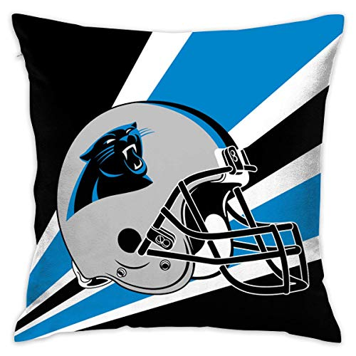 luckyly Custom Pillowcase Colorful Carolina Panthers American Football Team Bedding Pillow Covers Pillow Cases for Sofa Bedroom Bedding Car Home Decorative - 18x18 Inches