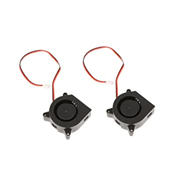 Gazechimp 2pcs Ventilador Bower Turbo 40 20 Soplador 12V Piezas de Impresión 3D Accesorios