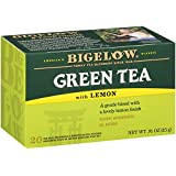 Bigelow Green Tea with Lemon Tea Bags 20-Count Boxes (Pack of 6) Caffeinated Individual Green Tea Bags, for Hot Tea or Iced Tea, Drink Plain or Sweetened with Honey or Sugar
