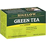 Bigelow Green Tea with Lemon Tea Bags 20-Count Boxes (Pack of 6), 120...