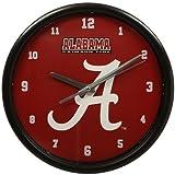NCAA The University of Alabama Official Black Rim Basic Clock, Multicolor, One Size