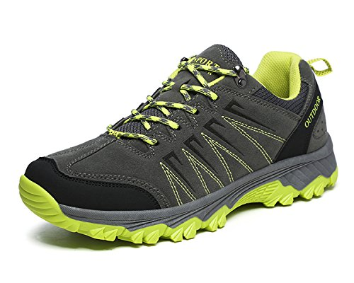 Jabasic Men Hiking Shoes Breathable Outdoor Trail Running Sneakers