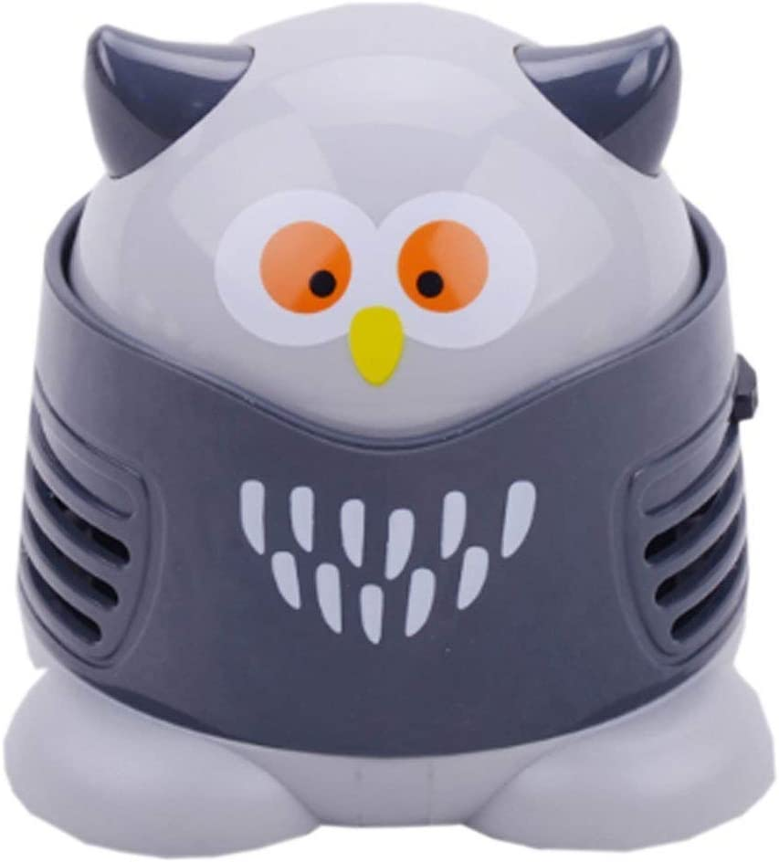 Portable Cartoon Mini Owl Table Dust Vacuum Cleaner Table Cleaning Assistance Keyboard Cleaning Dust Sweeper for Home Office by VESIPA
