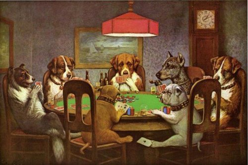 Friend in Need Dogs Playing Poker Cards 12