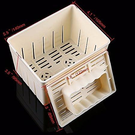 Juego de utensilios de cocina para hacer tofu, de MENGCORE, incluye molde de prensa y estopilla para hacer queso: Amazon.es: Hogar