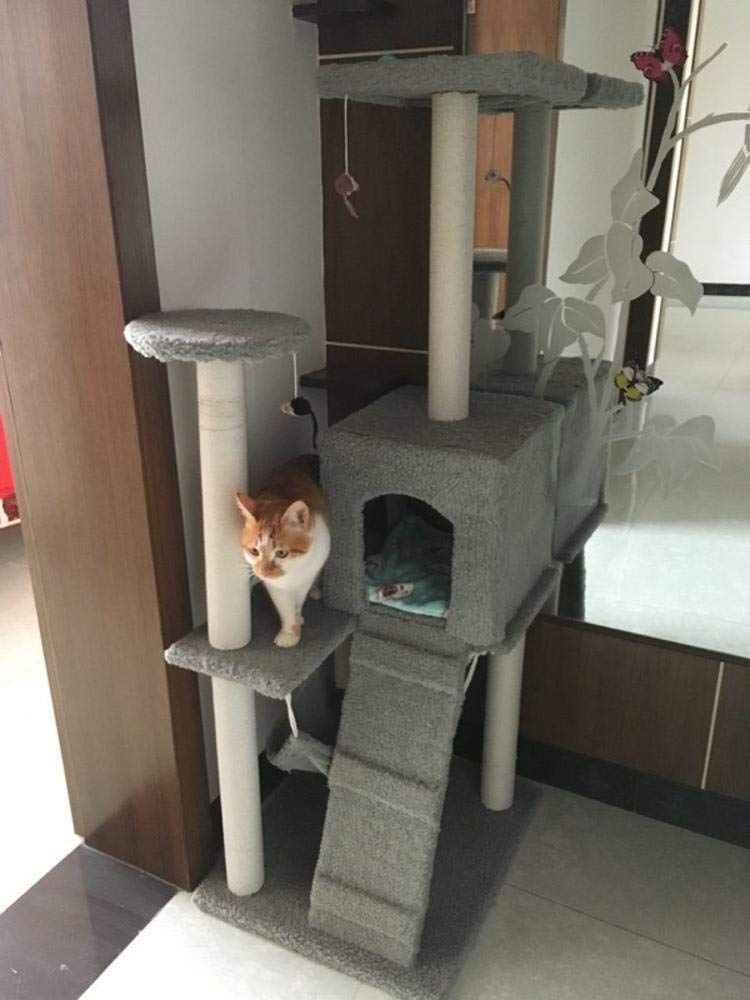 Beige Weiwei Cat Climb Rack Cat Litter cat Tree cat Grab Column for Game Sleeping 60cm 50cm  160cm