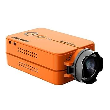 Crazepony RunCam 2 FPV Sport Camera 1080P 60fps HD Mini Action Dash Cam Mobius Built in WIFI Orange