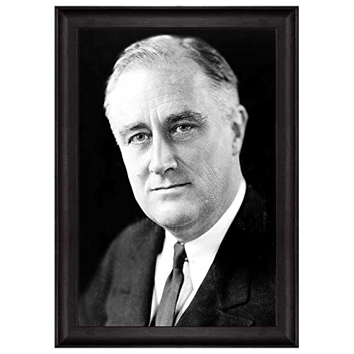 Portrait of Franklin D Roosevelt (32th President of the United States) American Presidents Series Framed Art Print