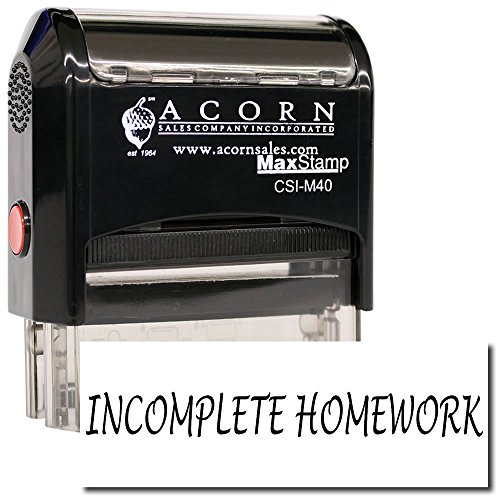 MaxStamp - Self-Inking Incomplete Homework Stamp (Red Ink) by MaxStamp