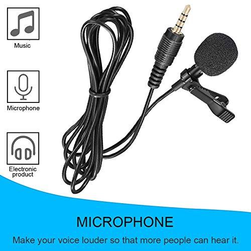 Mini Lavalier Mic Tie Clip Microphones Smart Phone Recording PC Clip-on Lapel Support Speaking Singing Speech High Sensitivity