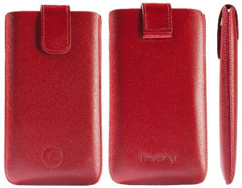 Original Favory Etui Tasche fuer / iPhone 5C / 5 C / Leder Etui Handytasche Ledertasche Schutzhuelle Case Huelle Lasche mit Rueckzugfunktion* In ROT