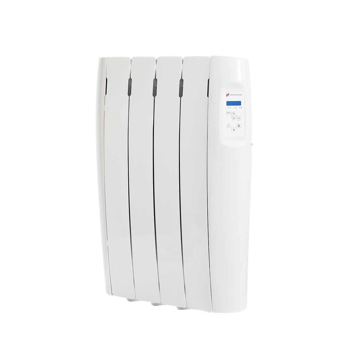 Haverland, RC4M, Radiador Digital Fluido Bajo Consumo, 500 de Potencia, 4 Elementos, Programable, Exclusivo Indicador de Consumo, Pantalla Temperatura ...