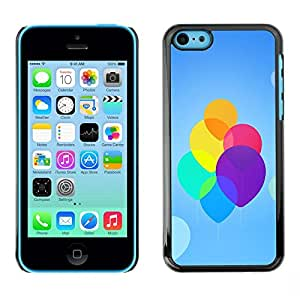 LECELL -- Funda protectora / Cubierta / Piel For Apple iPhone 5C -- Colorful Neon Balloons --